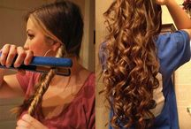 Curl long hair