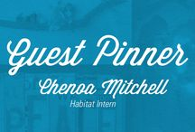 Guest Pinner : Chenoa Mitchell / Chenoa Mitchell is a recent Goshen College grad and intern with Habitat for Humanity of Elkhart County. She is the second of our ReStore Guest Pinners. All of these various projects and ideas utilize materials found in our ReStore.