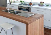 wooden kitchen benchtop
