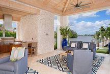 Outdoor Living / Paradise is captured in the outdoor living spaces of the Fine Luxury Estates by Mark Timothy, Inc.