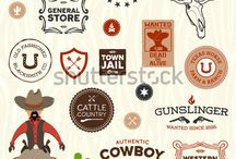 Cowboy Graphics / Cowboy and western graphic design ideas