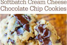 Soft cream cheese chocolate chip cookies