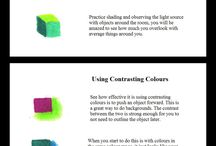 COLOURED PENSILS TUTORIALS