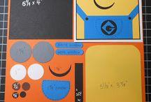 Melina scrapbook layouts