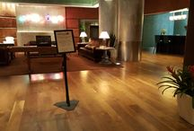 Refinishing : Magnolia Hotel in Downtown Houston Texas / Wood flooring services in Houston Texas. Wood floor refinishing,  Sanding.