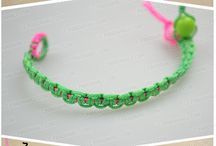 Bracelet making / Designs/patterns & how to's for making bracelets with embroidery threads.