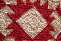 quilts red and white
