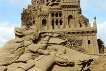 Sand sculptures / I was 12 years old when I saw my first sand sculptures on Waikiki beach in Hawaii.  I was absolutely fascinated by them...and that fascination continues even now in my 40's...