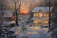 Новый год / Картинки для декупажа, идеи новогодних поделок и выпечки
