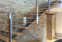 Glass railings and partitions