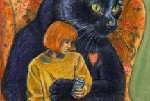 dans les bras du chat