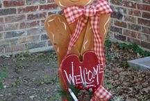 yard decoratIons/christmas/winter / by Tennessee  mama