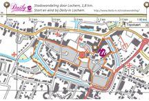 """Stadswandeling Lochem / Stadswandeling van 1,8 kilometer door Lochem.  De """"kleine landstad"""" Lochem, kreeg in 1233 haar stadrechten. De grachten, de kerk en het stratenplan dateren uit de Middeleeuwen. Een kleine stadswandeling is de moeite waard en zeker bij avond is hier en daar in het centrum een klein beetje van de middeleeuwse sfeer te proeven."""