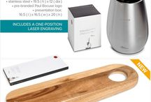 Food & wine gift sets, kitchen accessories gift sets, branded gift sets.