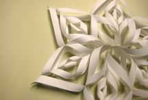 Snowflakes / Real and crafted snowflakes