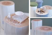 Årringene / Stumps as furniture - made by Cathrine at Krosser, Norway. Everyone is special and unique!