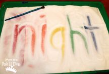 Sensory play - colours