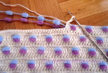 crochet blanket with bobles