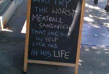 Funny Restaurant Signs / Funny Restaurant Signs