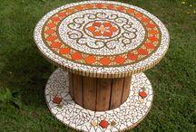 table en mosaique