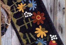 Wool felt embroidery