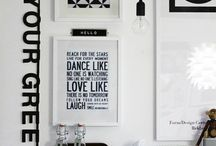 DYH.COM :: Monochrome Style / Infuse your home with the timeless combination of black and white creating infinite elegance and distinct style