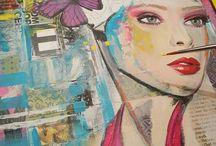 Workshop Mixed Media portret schilderen Groningen ☆