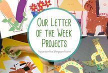 Letter of the week preschool art projects