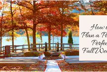 How to Plan a Picture Perfect Fall Wedding / Everything that inspires you to think about fall should be what you use to design the perfect fall wedding.  http://www.kimberleyandkev.com/how-to-plan-a-picture-perfect-fall-wedding/