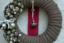 Karácsonyi koszorúk! Szőrmés, kötött! Christmas wreaths