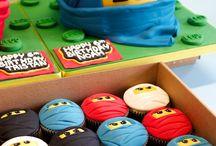 Ninjago cakes, cupcakes and cookies