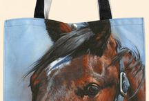 Horse Tote Bags / Here are our unique range of Tote Bags. They are hand Printed in the USA by Fiddler's Elbow, who take pride both in the quality of their manufacture and for the commissioning the artists to create these unique designs.