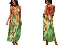 Dlouhé letní šaty pestrobarevné