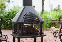 Metal Outdoor Fireplace