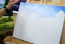 AB Pintar Céu Mar Montanhas
