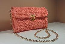 Crochet chain bag purse