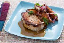 Blue Apron - Pork Chop/Sweet Potatoes / by Cheryl Dowling Lance