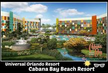 Universal's Cabana Bay Beach Resort / Universal Orlando's newest on-site hotel.  Onsite guests get early entry into the Wizarding World of Harry Potter. Walk or take the bus to Universal Studios or Islands of Adventure.