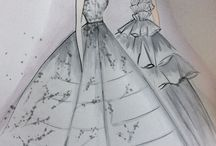 Marchesa and Alex Perry gowns
