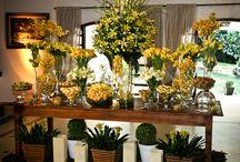 Decoração de Casamento em Amarelo / Várias decorações de lindos casamentos reais e para inspiração na cor amarela.