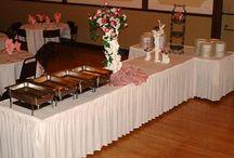 buffet table skirting