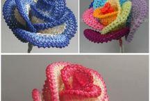 flores tejidas. crochet