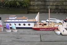 Nantucket Harbor Series / The Harbor Series began in 1990. It continues to  represent the special boats in our Harbor and are made of hard woods and are designed to be an interactive, creative play.  They have become  a symbol  of The Toy Boat as well as the Island of Nantucket.  A true classic.  These boats are for ground play only