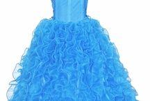 Blue Flower Girl Dresses