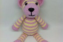 Crochet teddy/Háčkovaní medvídci / Handmade crochet toys for kids from merino wool