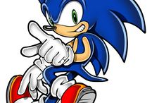 Sonic Pinball Party / A couple of logo artworks and character artworks featuring Sonic the Hedgehog and Nights from Sonic Pinball Party.  More info at http://sonicscene.net/sonic-games/spin-off-sonic-games-on-consoles