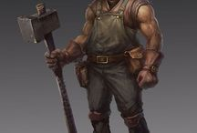 childhood / mostly dwarfs, blacksmiths and sci-fi engineers and mechanics