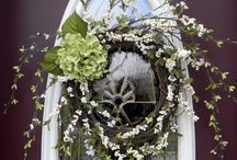 Front door decor / by Kay Harville