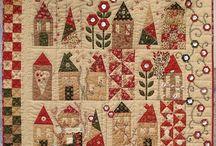 christmas quilts ideas: projet (1) Noël église 2013