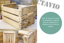 [Enkaja] / Marca de cajas de madera antigua, sistemas modulares con cajas de madera y todo tipo de mobiliario